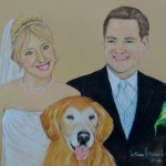 Jenn, Randy and Splash, Golden Retriever